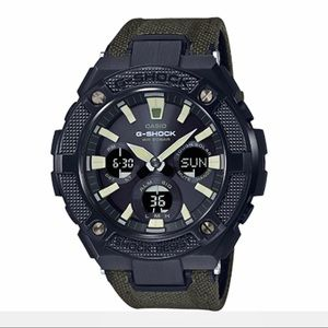 Casio G-Shock G-steel solar watch w. Cordura band